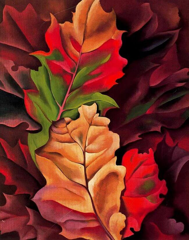 Image result for o keeffe leaves