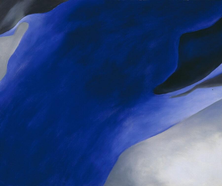 Blue Black And Grey 1960 By Georgia O Keeffe