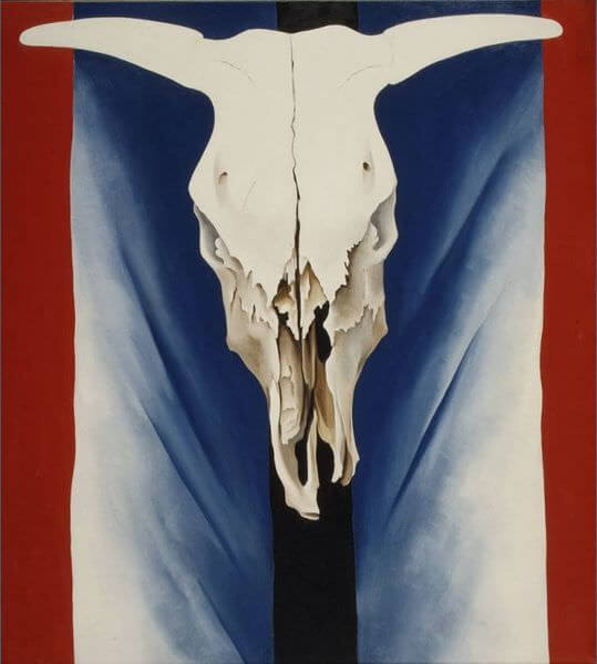 Cow's Skull: Red, White, and Blue, 1931 by Georgia O'Keeffe