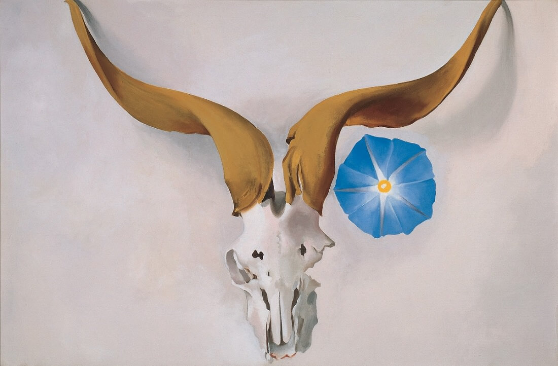 Ram's Head, Blue Morning Glory, 1938 by Georgia O'Keeffe